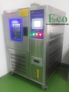 Programmable constant temperature and humidity testing chamber